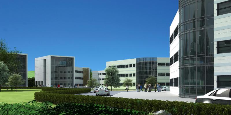 现代学校 办公楼