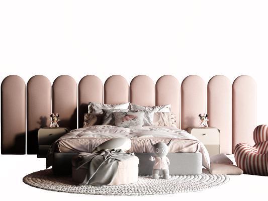 现代女孩床