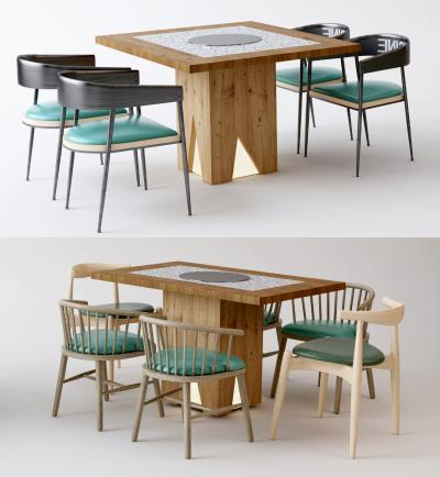 现代餐椅 餐桌