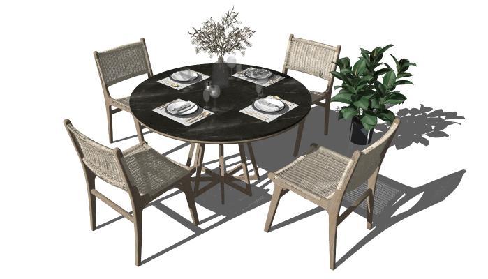 北欧餐桌椅 休闲椅 藤椅