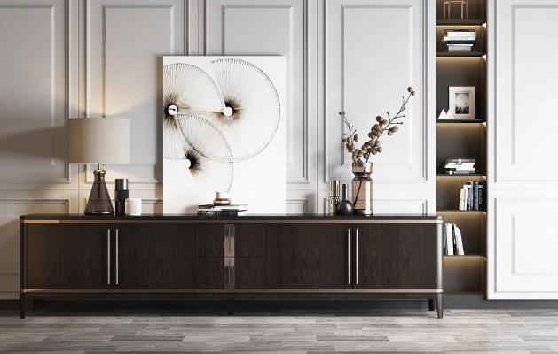 现代轻奢木质电视柜