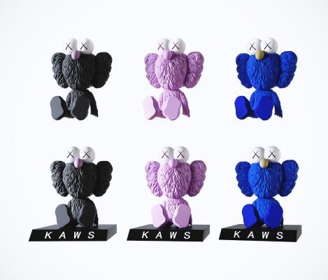 现代kaws潮玩装饰摆件 公仔玩具摆设 潮流装饰摆设