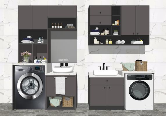 现代橱柜组合 洗手台盆组合 卫浴用品