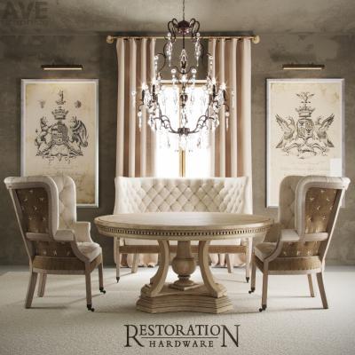 美国Restoration Hardware餐桌椅组合