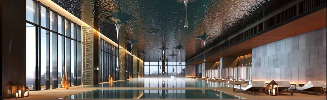 現代輕奢游泳館