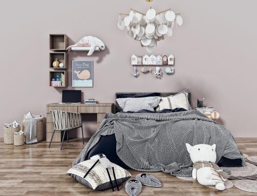 现代儿童床 双人床 男孩床