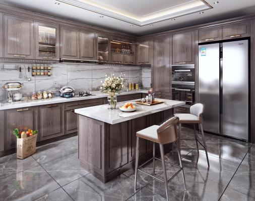 新中式风格实木厨房 电器 厨房摆件