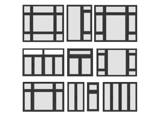 现代铝合金窗组合