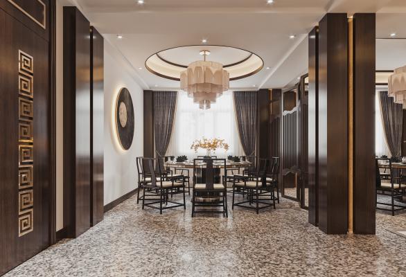 新中式酒店饭店包厢