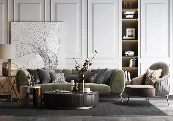 美式輕奢組合沙發