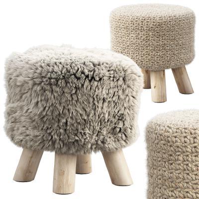 现代布艺凳子