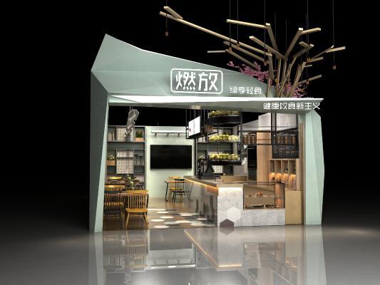 现代轻食店铺