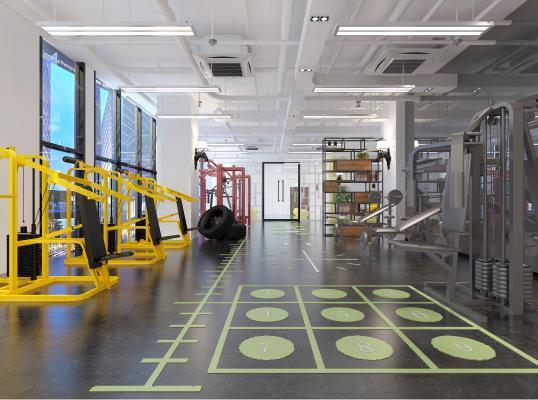 工业风格健身房 器械 跑步机