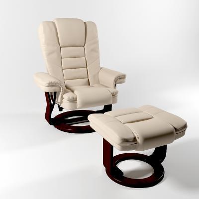 簡歐皮革躺椅按摩椅