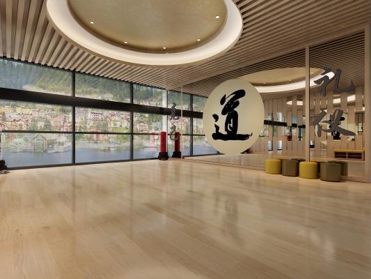 现代健身房 跆拳道馆