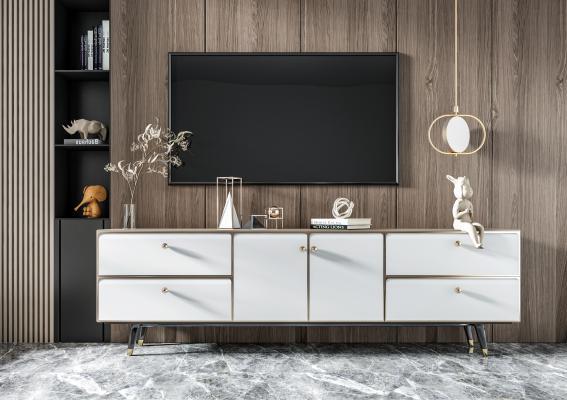 现代电视柜 雕塑 装饰柜 边柜 矮柜 餐边柜 装饰品 挂画 花瓶