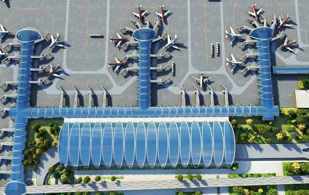 现代机场 飞机
