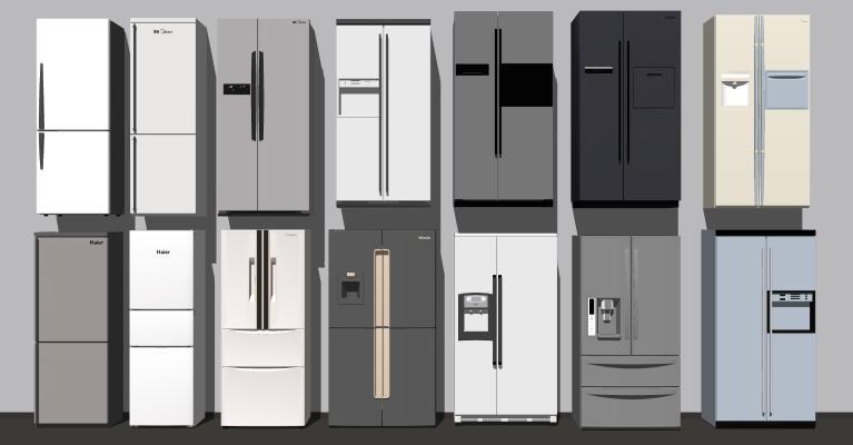 現代冰箱組合 冰柜 冷藏柜