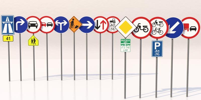 现代道路指示牌