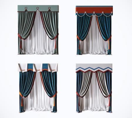 現代窗簾組合