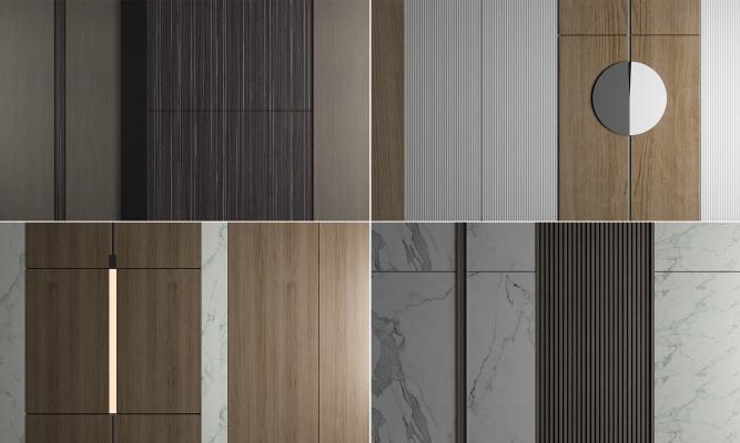 现代护墙板 背景墙 影视墙 装饰墙