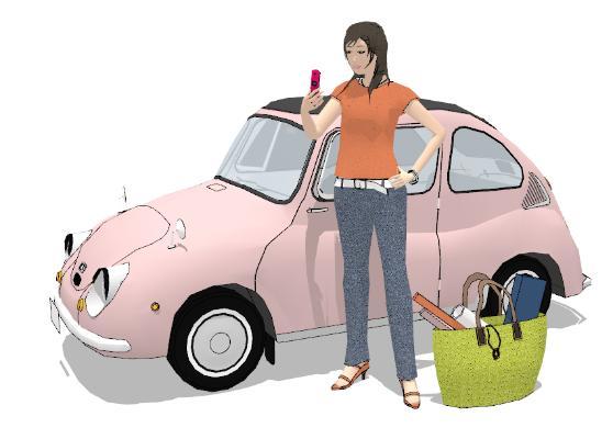 现代汽车 女人 人物