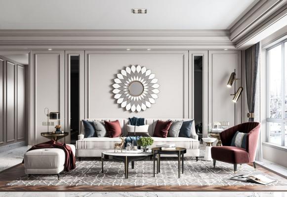 美式輕奢客廳
