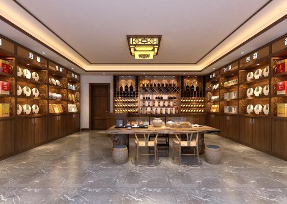 中式煙酒專賣店 茶葉店