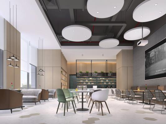 现代咖啡厅 西餐厅