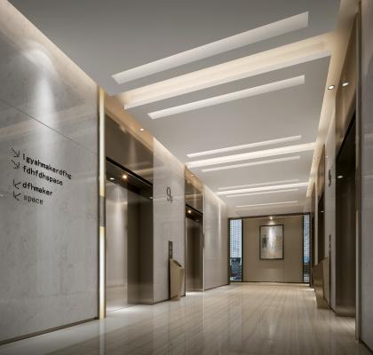 现代风格过道 电梯厅