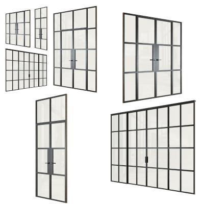 现代铝合金玻璃门