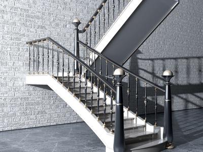 现代铁艺楼梯
