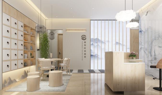 新中式美容院会所 前台接待