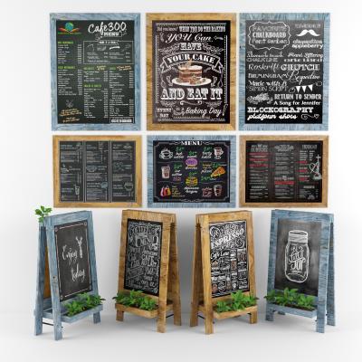 北欧原木黑板广告牌