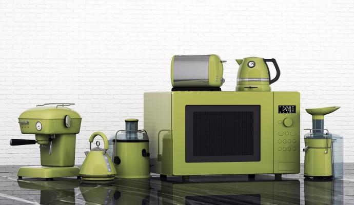 现代厨房小家电组合