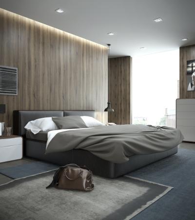 現代風格雙人床