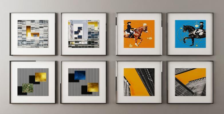 现代抽象挂画