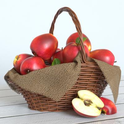现代食物 苹果 篮子