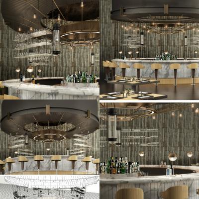 工业风酒吧吧台