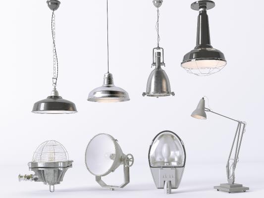 工业吊灯 台灯 射灯