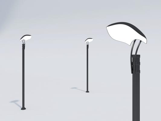 现代简约路灯 黑金属路灯 花园照明灯