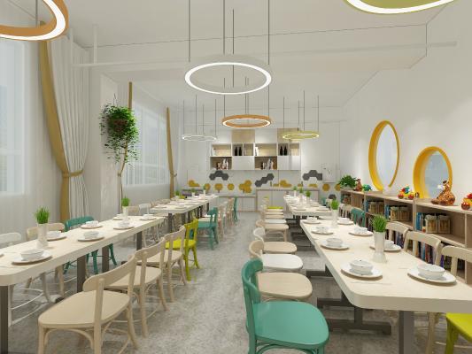 北欧风幼儿园餐厅
