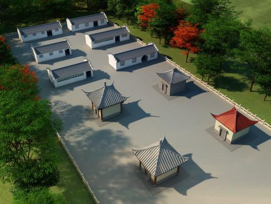 中式小房子,公共厕所,配电房,水井房,小仓库
