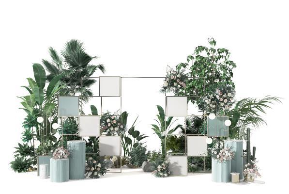 现代盆栽陈设