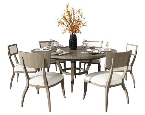 現代美式休閑桌椅組合,餐桌椅組合,餐廳桌子,單人休閑椅,裝飾品,花瓶