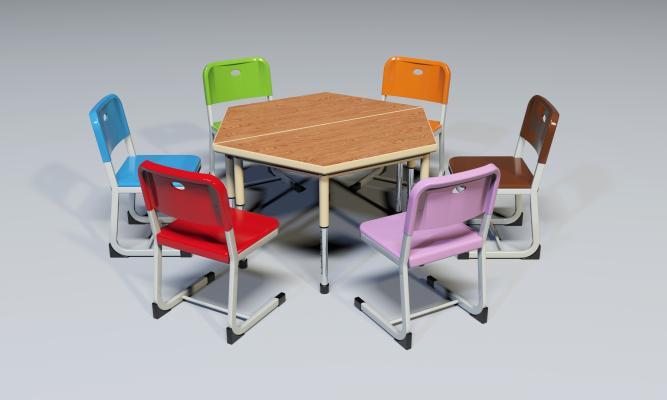 現代課桌椅組合 彩色課桌椅 升降課桌椅