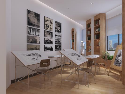现代书吧 画室