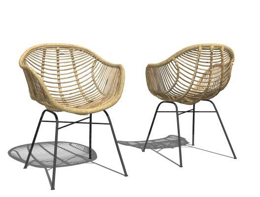 现代户外椅 休闲藤椅