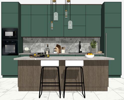现代轻奢厨房空间
