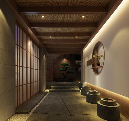 现代风格酒店过道 走廊